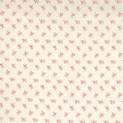 Moda French General Favorites - Bolt 4978 - Red Floral on Pearl (Cream) - Moda No. 13526 14 - Cotton Fabric